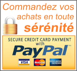 Faites vos achats en toute sérénté - les paiment sont sécurisé avec paypal - Vous payez carte bleu, vrement, ou chéque