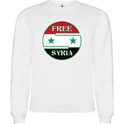 Sweat shirt mixte free Syria SWM-850-G4794 syrie libre