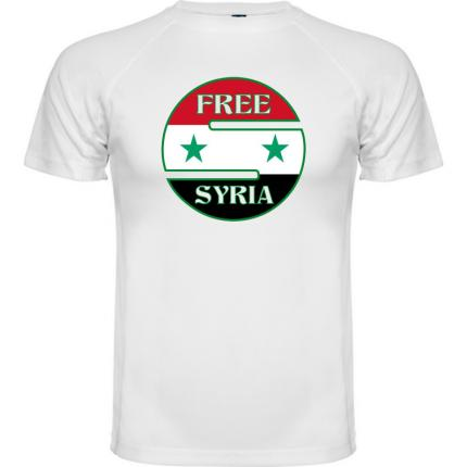 Tee shirt soutient a la syrie free Syria TM-850-G4794