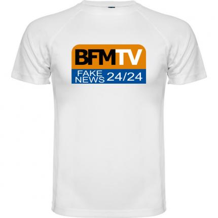 T-shirt télévision  BFM TV FAKE NEWS 24/24