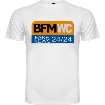 BFM WC FAKE NEWS 24/24  T-shirt homme blanc